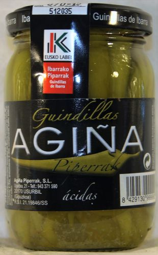 AGIÑA GUINDILLAS ACIDAS BOTE 370 ml.